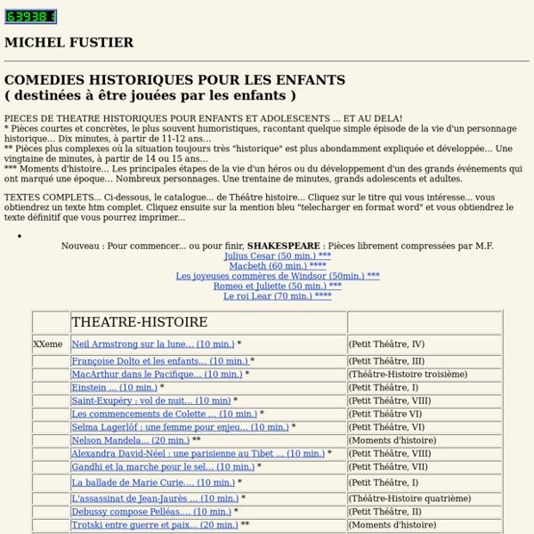 Texte de théâtre pour enfants par Michel Fustier