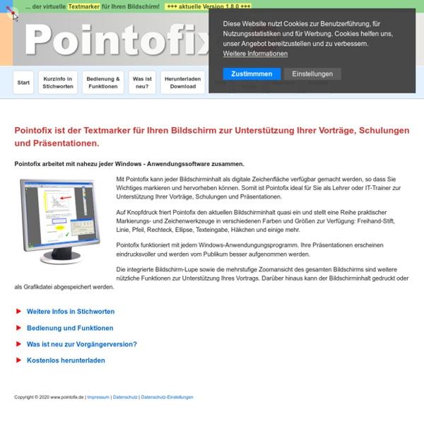 Pointofix - de virtuele marker voor uw beelsscherm
