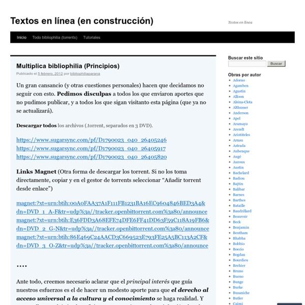 Textos en línea