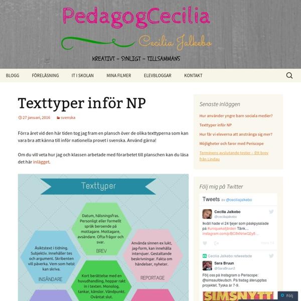Texttyper inför NP