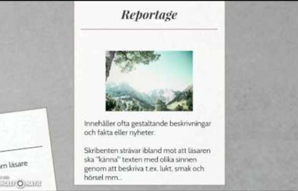 Texttyper - en sammanfattning