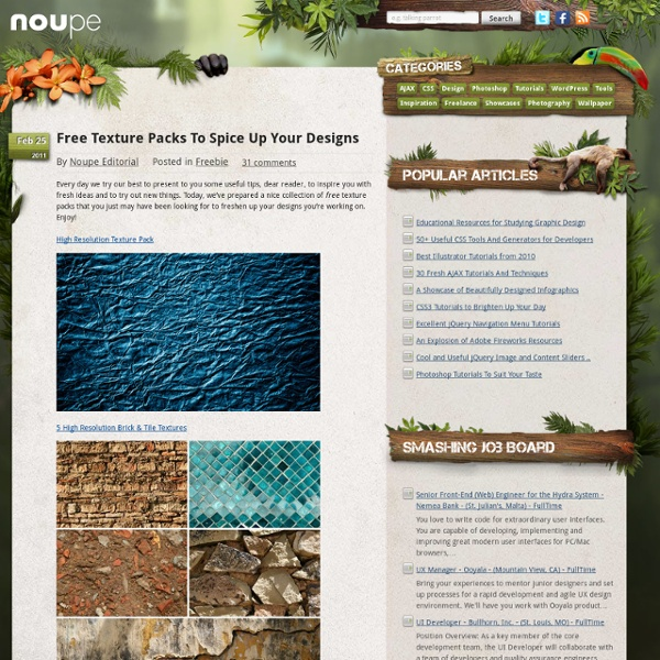 Free Texture Packs To Spice Up Your Designs - Noupe Design Blog