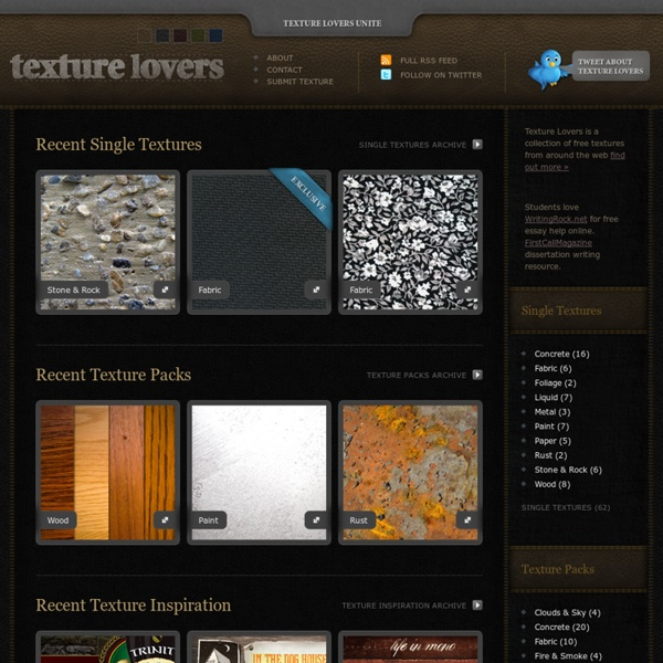 Free textures, texture tutorials and texture inspiration collections from the web