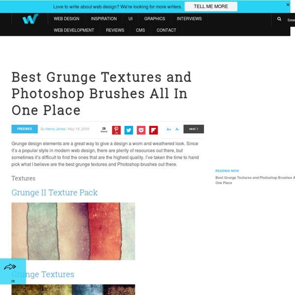 Best Grunge Textures and Photoshop Brushes All In One Place