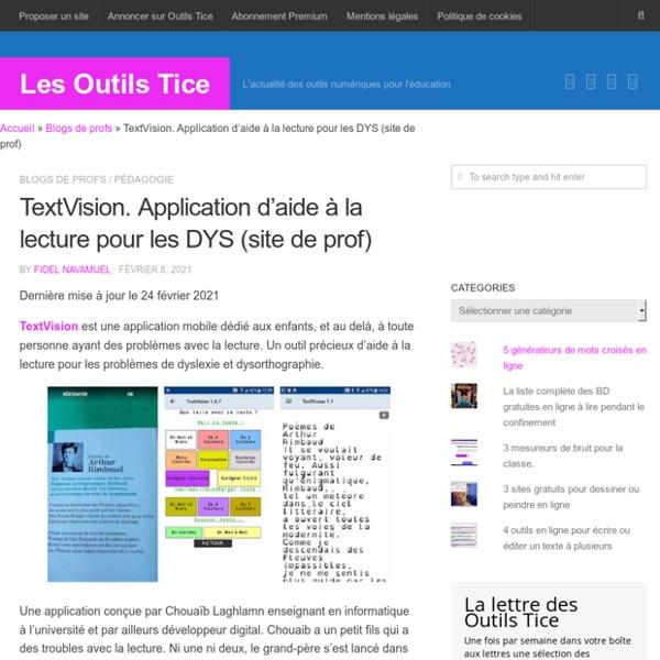 TextVision. Application d'aide à la lecture pour les DYS (site de prof)