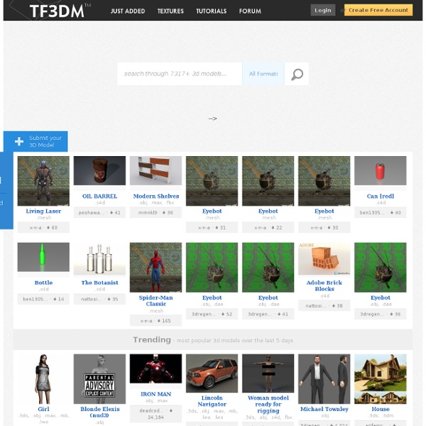 3D Models for free