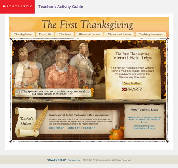 The First Thanksgiving Student Activities for Grades PreK-12