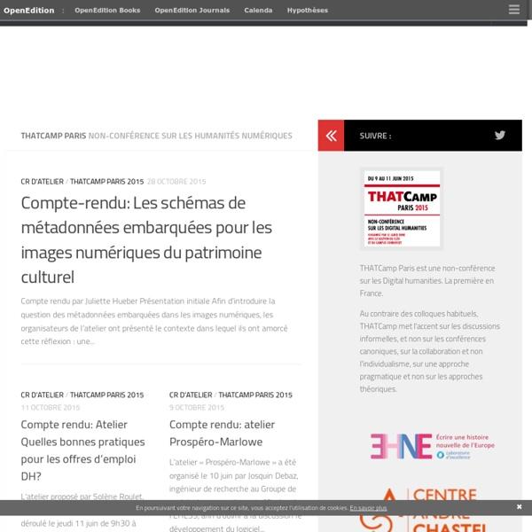 Non-conférence sur les Digital humanities (Paris, INHA, 9-11 juin 2015)