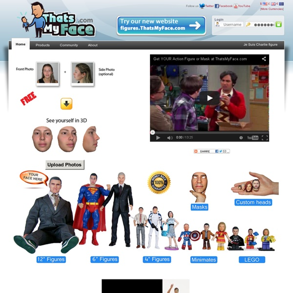 ThatsMyFace - Custom Action Figures, Dolls & Masks from your Photos