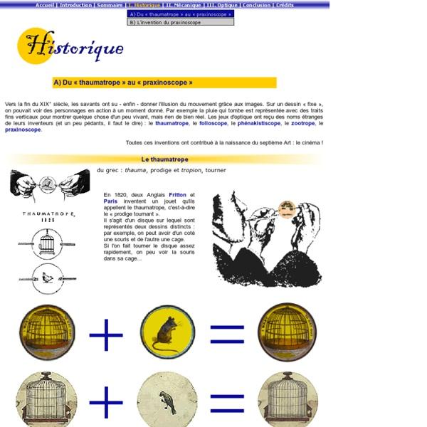 Historique : du thaumatrope au praxinoscope