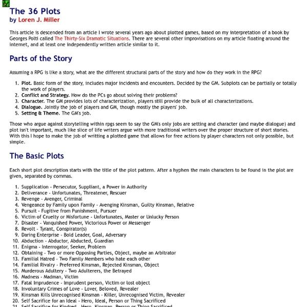 The 36 Plots