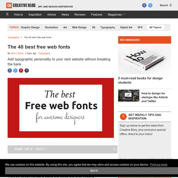 The 30 greatest free web fonts