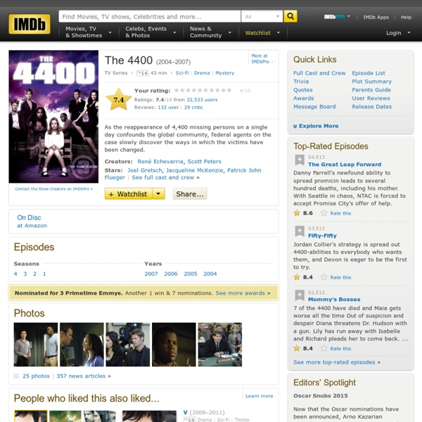 The 4400 (TV Series 2004–2007)
