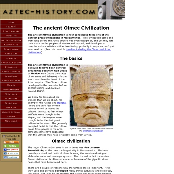 The ancient Olmec Civilization