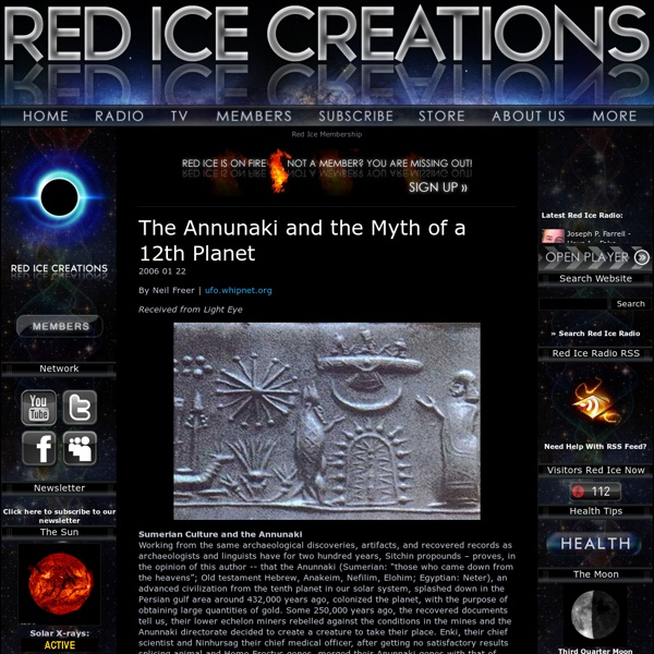 The Annunaki and the Myth of a 12th Planet
