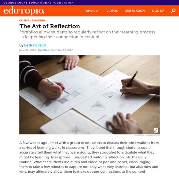 Digital Portfolios: The Art of Reflection