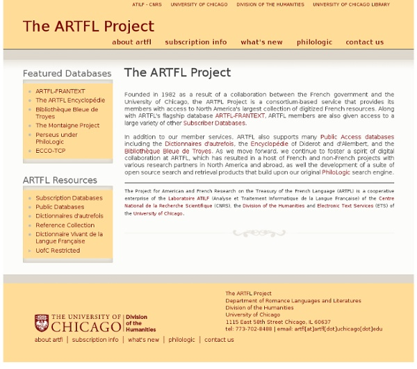 The ARTFL Project