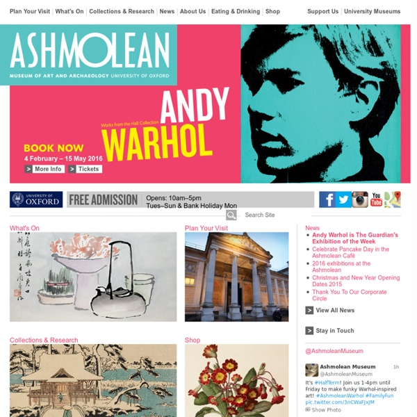 The Ashmolean Museum: Home page of the Museum