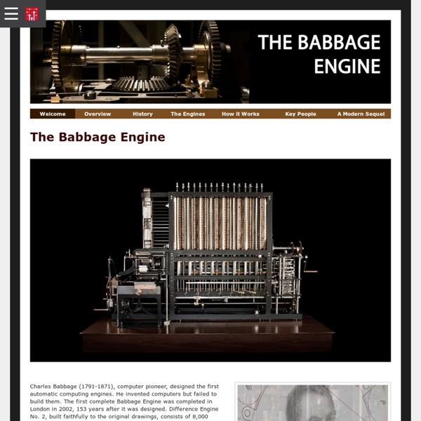 The Babbage Engine (1820s 1830s)
