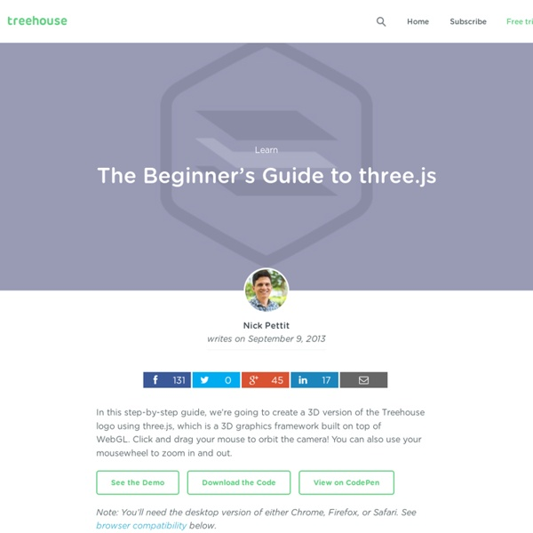 The Beginner's Guide to three.js