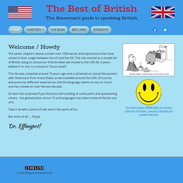 The Best of British - British Slang