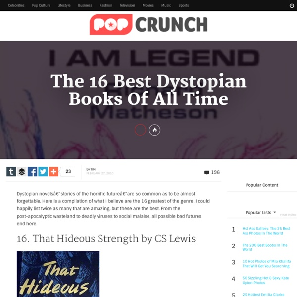 The 16 Best Dystopian Books Of All Time