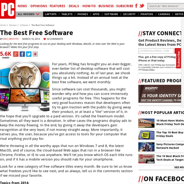 The Best Free Software of 2012