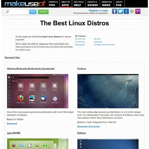 The Best Linux Distros