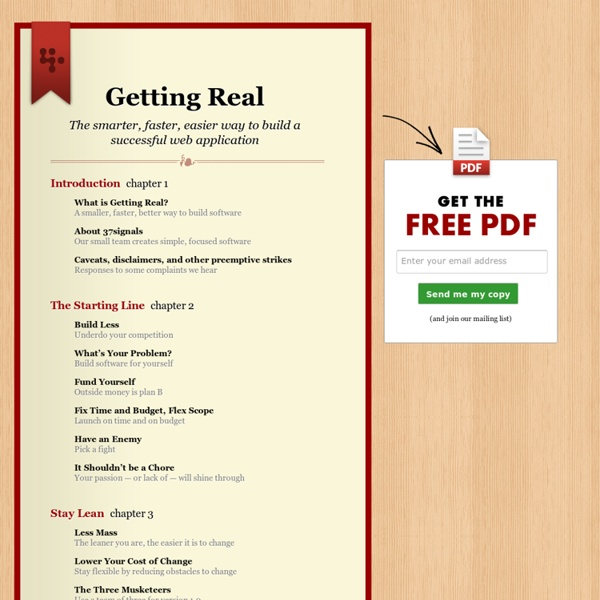 Getting Real: The bestselling book by 37signals