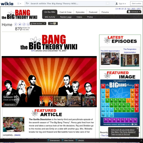 The Big Bang Theory Wiki - Wikia