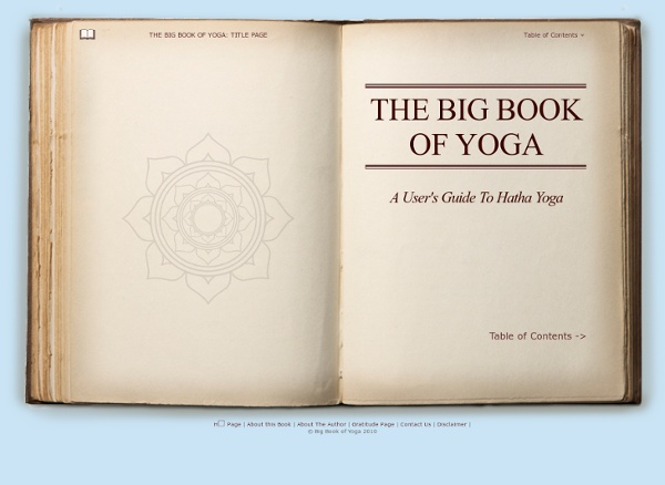 The Big Book of Yoga: Title Page (page 1 of 1) - StumbleUpon
