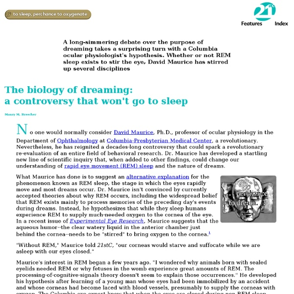 The biology of dreaming