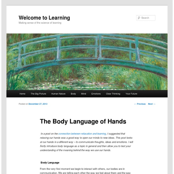 The Body Language of Hands