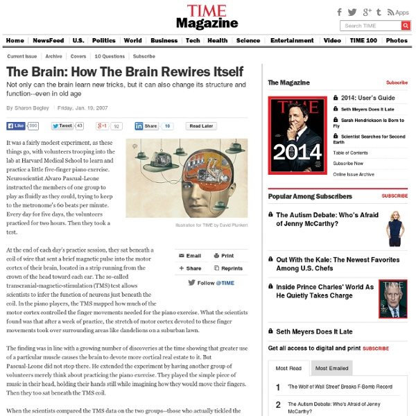 How The Brain Rewires Itself