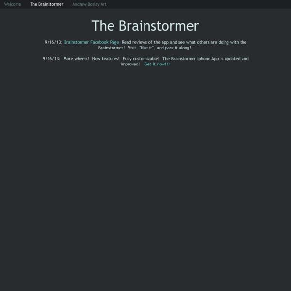 The Brainstormer - The Brainstormer by Andrew Bosley