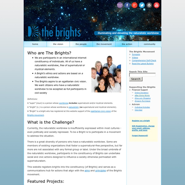 The Brights' Net - Home Page