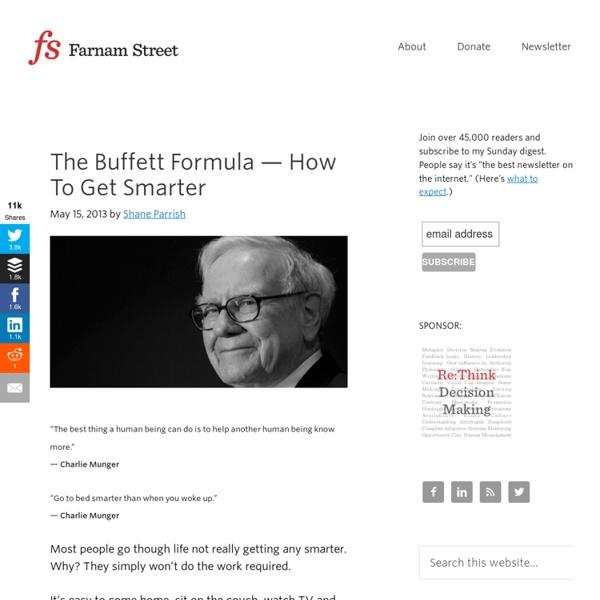 Buffett & Munger: How To Get Smarter