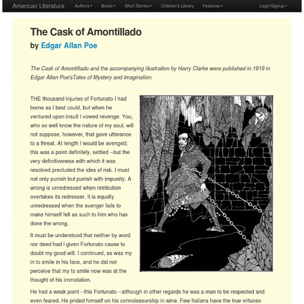 the cask of amontillado fernando s point Everything you need to know about the narrator of edgar allan poe's the cask of  amontillado, written by experts with you in mind.