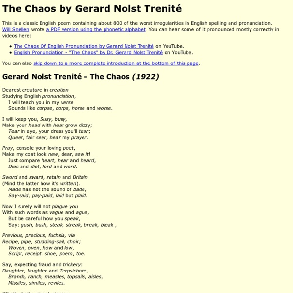 The Chaos - Gerard Nolst Trenité