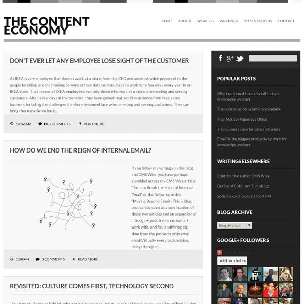 The Content Economy