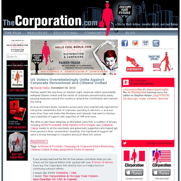 The Corporation Film: Welcome