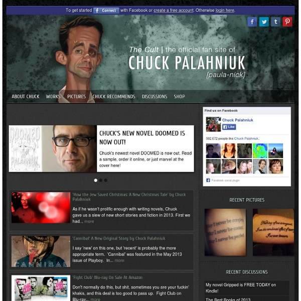 The Official Chuck Palahniuk Site