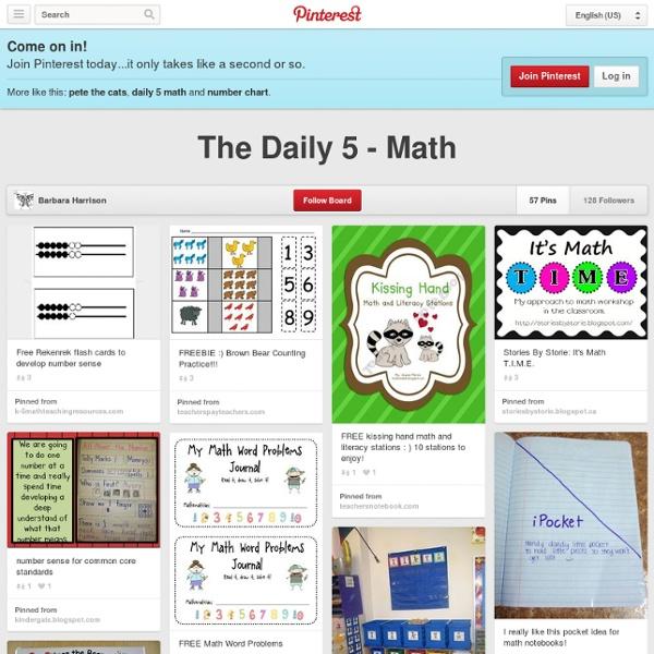 The Daily 5 - Math