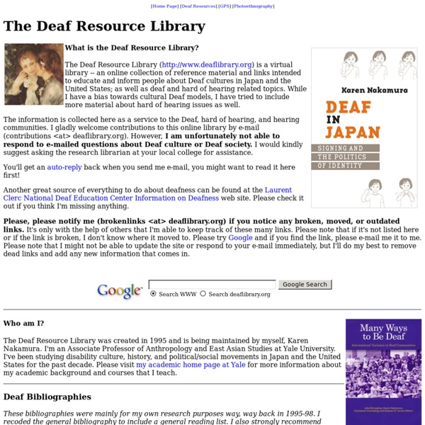 The Deaf Resource Library