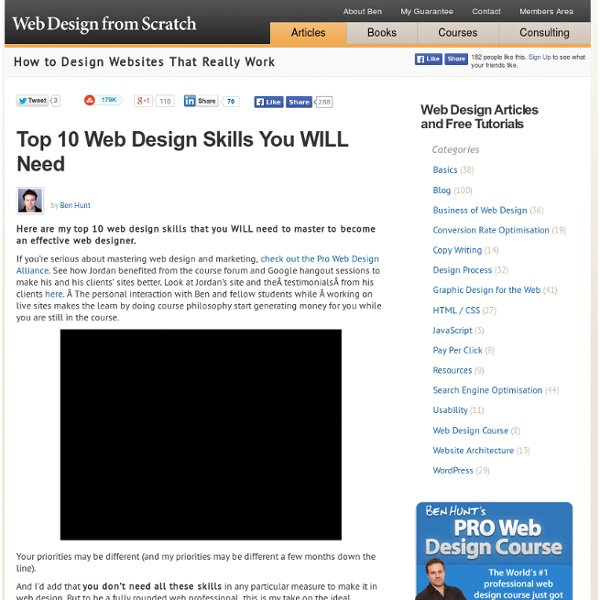 The Top 10 Web Design Skills You WILL Need!