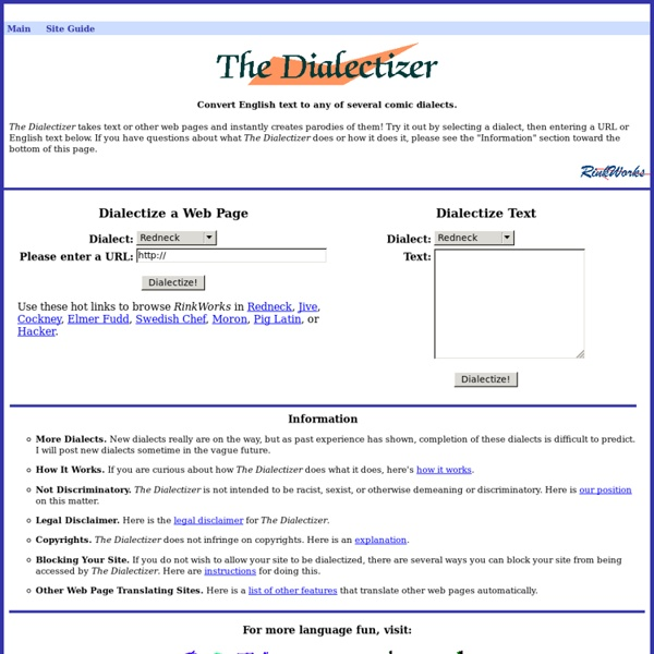 The Dialectizer | Pearltrees