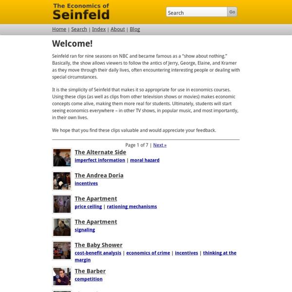 The Economics of Seinfeld