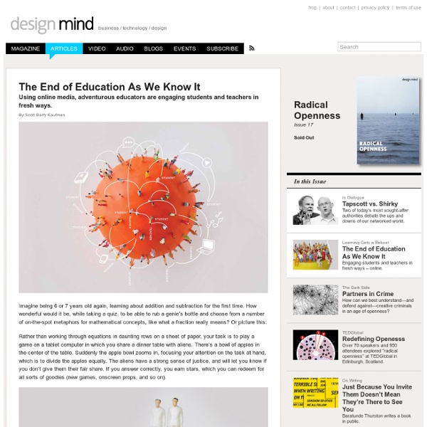 The End of Education As We Know It
