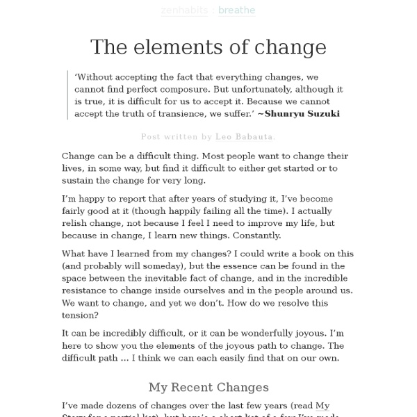 The Elements of Change