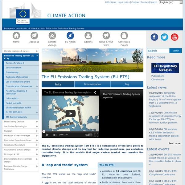 The EU Emissions Trading System (EU ETS)